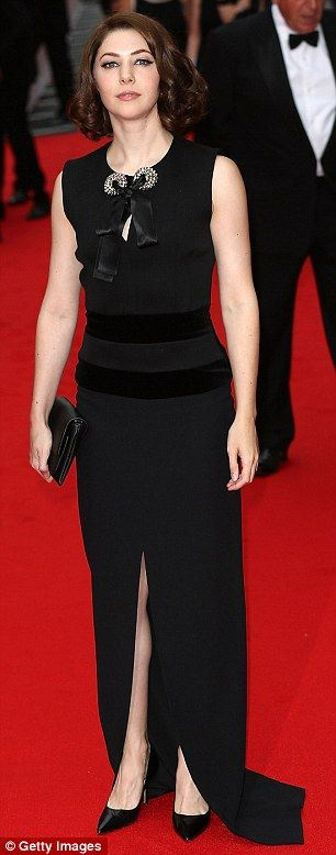 Catherine Steadman (Mabel Lane Fox from Series 5) wore a stunning black gown...