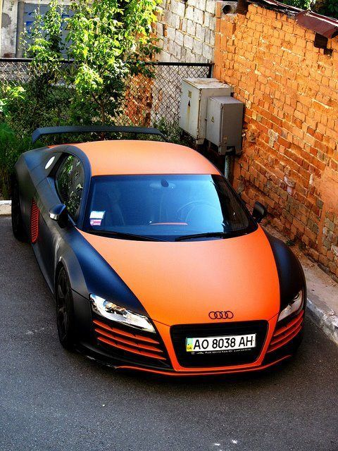 R8 | Black + Orange Matt