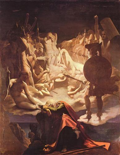Il sogno di Ossian, 1813, olio su tela, Musée Ingres, Montauban