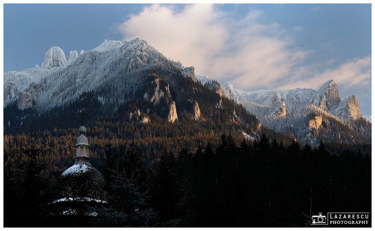 Frozen mountain - Ceahlau mountain from Romanian Carpathians in winter season.