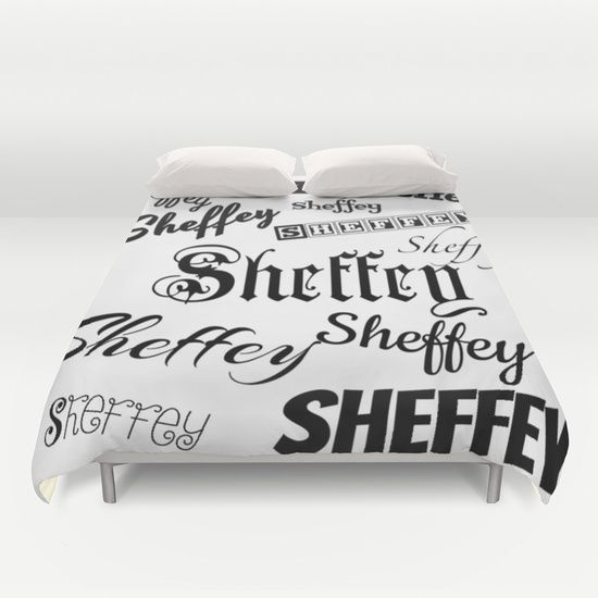 Duvet covers personalized for the Sheffey name. Great for dorm rooms and wedding gifts