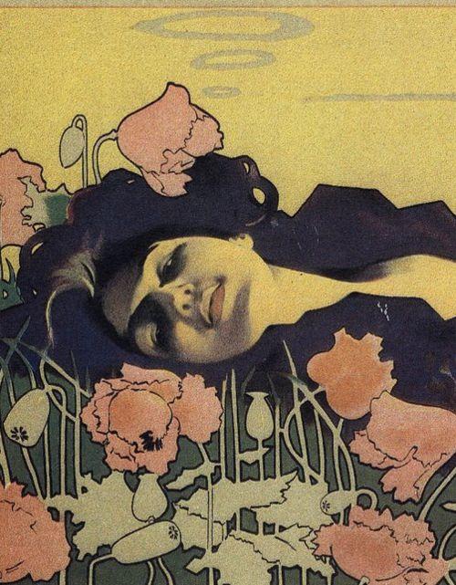 23silence:  Detail of Cigarrillos Paris poster - Aleardo Villa, 1901