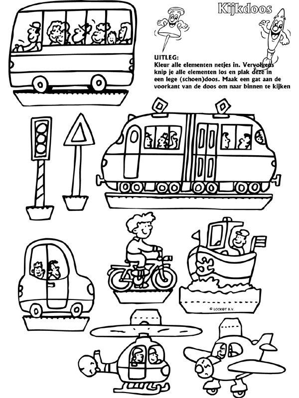 Verkeer - Kijkdoos - Knutselpagina.nl - knutselen, knutselen en nog eens knutselen.