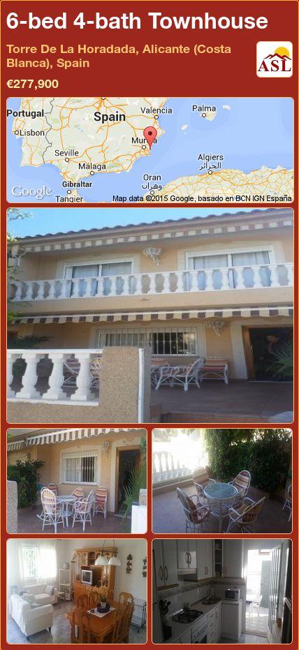 6-bed 4-bath Townhouse in Torre De La Horadada, Alicante (Costa Blanca), Spain ►€277,900 #PropertyForSaleInSpain
