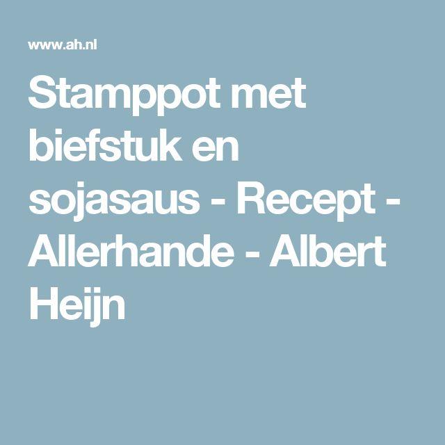 Stamppot met biefstuk en sojasaus - Recept - Allerhande - Albert Heijn