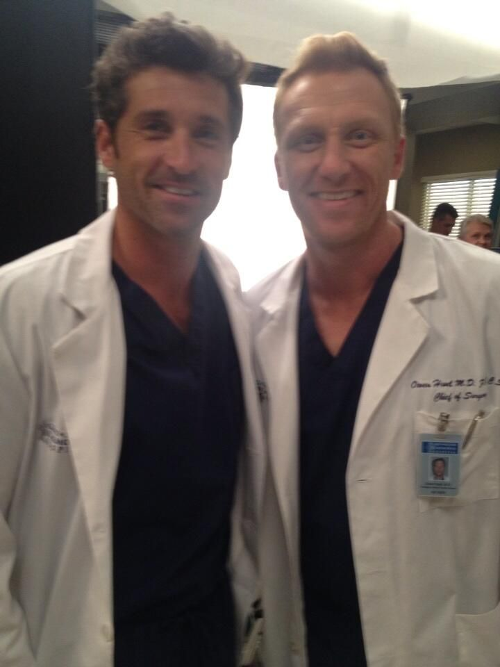 Patrick Dempsey and Kevin McKidd Get Sexy on Set For Season 10 Filming (PHOTO)