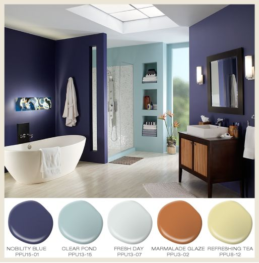 Awesome Elegant Bathroom Paint Colors Behr Bathrooms: 329 Best Images About Ideas Para Pintar El Interior De La Casa On Pinterest