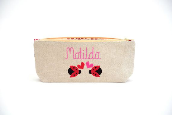 Personalised Pencil Case // Ladybird Pencil Case // Lovebug //