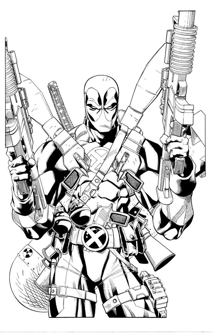 Deadpool Coloring Pages Free Printablejpg Coloring Pages Clarknews