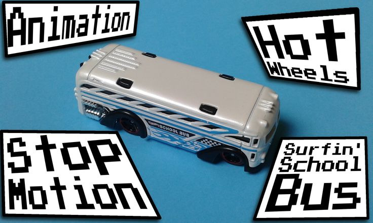 2014 Hot Wheels Surfin School Bus Stop Motion Animation  Here's my new stop motion animation of Hot Wheels' Surfin' School Bus. Hope you like it! The song used in this video is Un Petit Robot by MotionRide. You can get it here: https://goo.gl/WZEbPR :) Music and photos by MotionRide