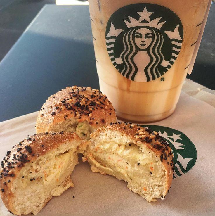 Bantam Bagel Bites and Caramel Mochiatto at Starbucks