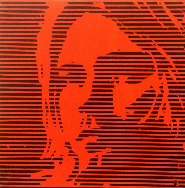 """Kurt Cobain"" Acrylic on canvas 50x50 www.ricasso.se"