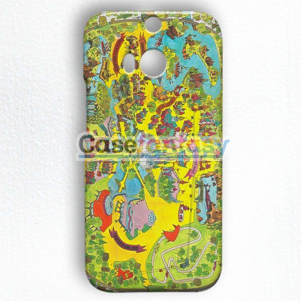 Vintage Walt Disney World Map Fantasyland 1971 HTC One M8 Case | casefantasy