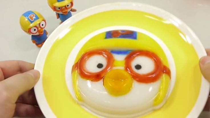 DIY How to Make 'Pororo Colors Jelly Gummy Pudding' Learn Colors Slime B...