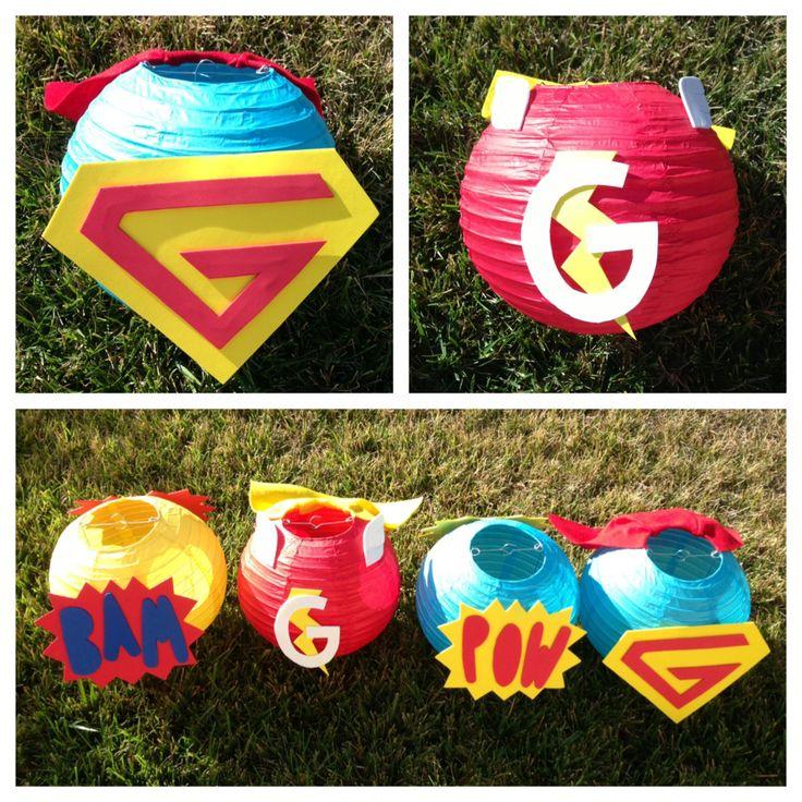 Super Hero Paper Lantern Decoration  Custom Colors by adingkaki, $12.00