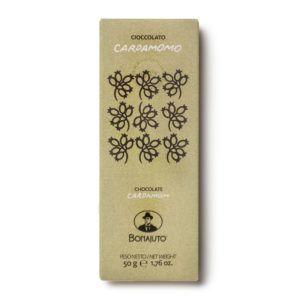 Cioccolato di Modica - Antica Dolceria Bonajuto - con massa di cacao al 65% aromatizzato al cardamomo