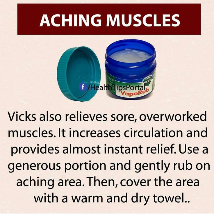 Vicks for sore muscles... Gotta try this after a workout