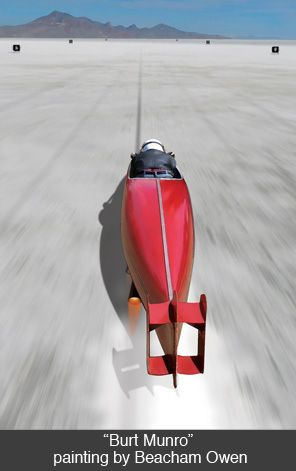 In all, Burt Munro made ten trips to Bonneville.  In 1967, at the age of 68, he set a land speed record of 185.586 mph—on a 47-year old machine with an original top speed of 55.  To this day, no one has broken his record.