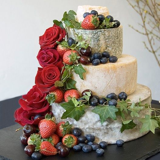 "How about a true cheese ""cake"" during the cocktail hour?!  Great idea for a wine & cheese party too. Acumen Design Consultancy"