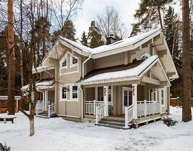 деревянные двухэтажные дома из бруса фото