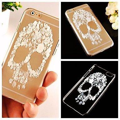 caso trasero transparente patrón de cráneo para el iphone 6