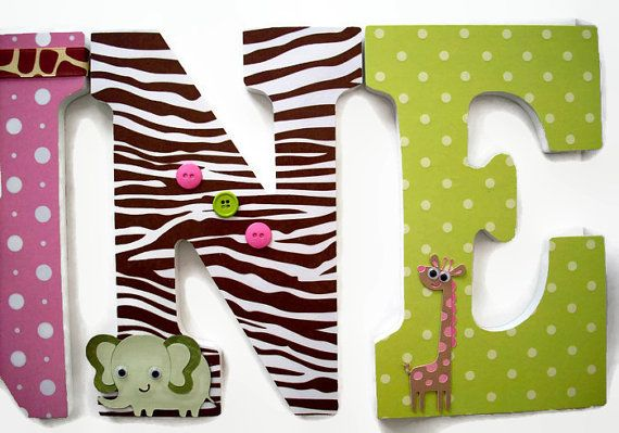 Jungle chambre denfant  Jungle Jill bois lettres  filles