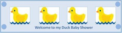 Free Custom Duck Baby Shower Bottle Labels - designed by Sarit Bronstein