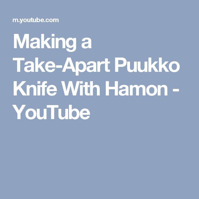 Making a Take-Apart Puukko Knife With Hamon - YouTube