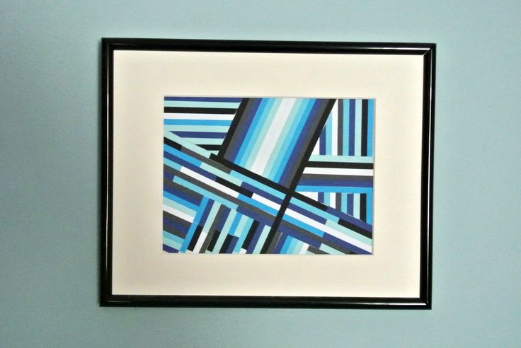 Blue stripes collage wallart (full tutorial on our website)