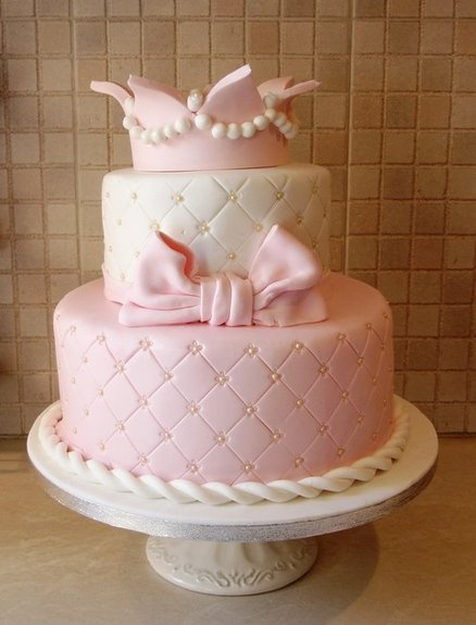 Crown Themed Cake Cake By LoveforSugar. I Would Use For A Princess Baby  Shower