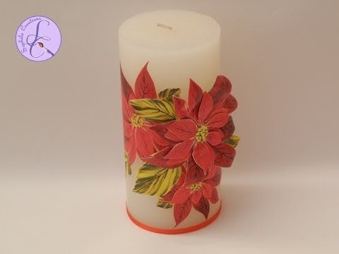 Tutorial: Decoupage natalizio classico e 3D su candela (christmas decoupage on candle) [eng-sub]