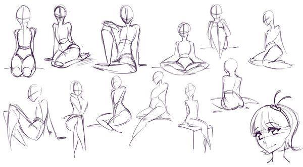 Sitting Poses by rika-dono.deviantart.com on @DeviantArt
