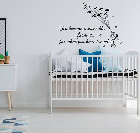 The Little Prince Quote Nursery Wall Decal The Little Prince Wall Art Nursery Decor Le Petit Prince Wall Nursery Decor Overstock Wall Art Baby Nursery Decor