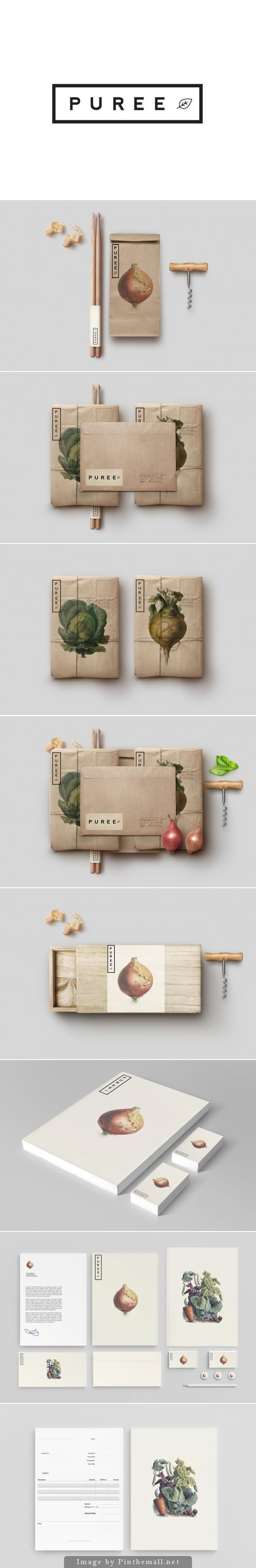 Puree Organics by Studioahamed | Branding | Pinterest