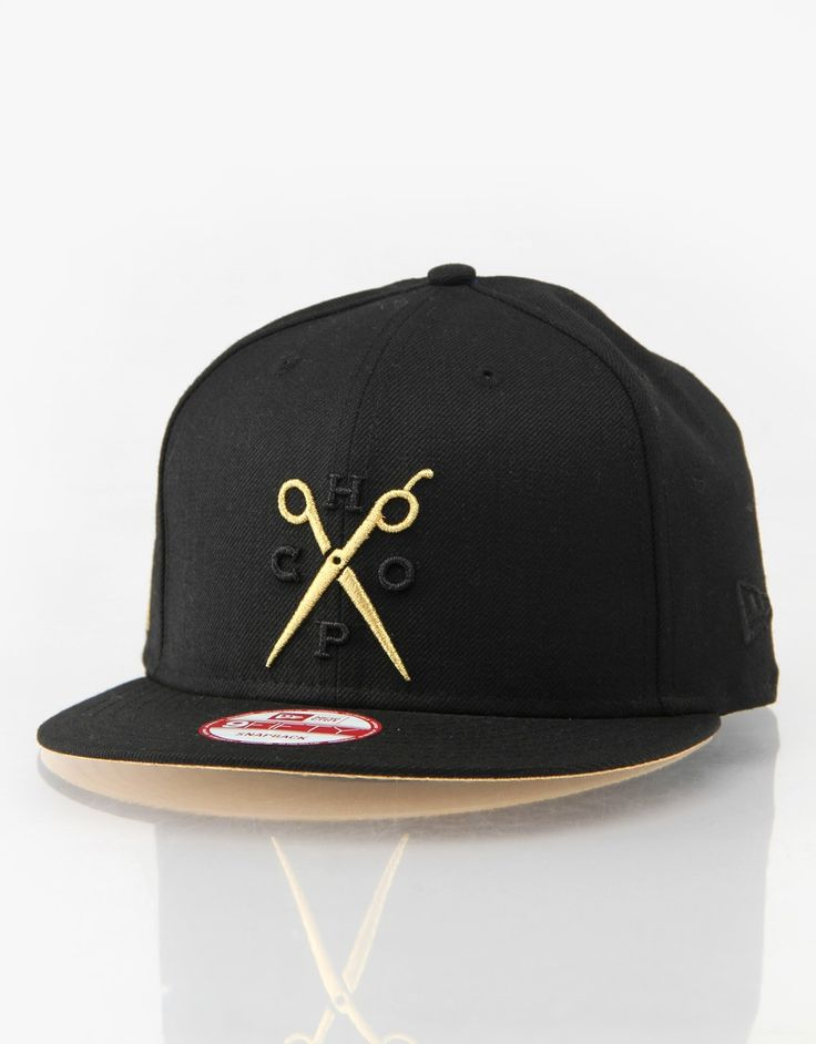 £35 - Franks Chop Shop Gold Scissors New Era Snapback Cap