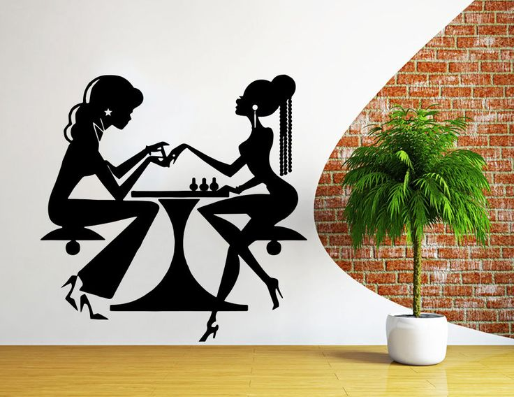 Wall Decal Salon Poster Beauty Salon Nail Art Manicure Decal Hairdesser Window Stickers For Wall Decoration Vinyl Wall  WW-49