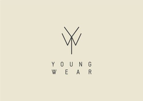 Young Wear this is so simple but amazing. you get the Y and the W but you also see the collar and tie #logo #brand #clothing