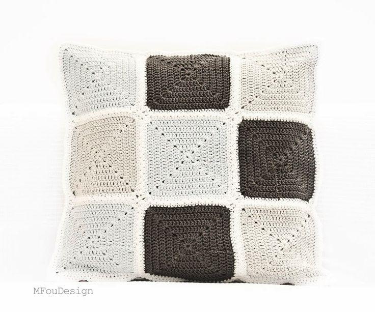 crochet pillow cover / szydełkowa poszewka na poduszkę ~ MFOUDESIGN - HANDMADE by Magda Fou