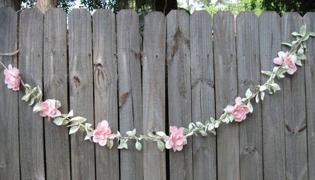 Fabric Vine Part DIY:  Petal Flowers - what a cool idea! :D