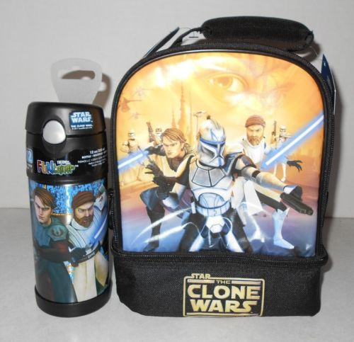Star Wars Lunch Box Tote Thermos New The Clone Wars Free Shipping | eBay : star wars lunch box - Aboutintivar.Com