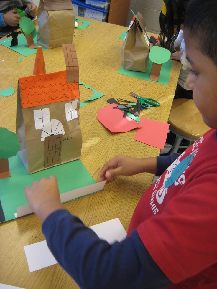 First Grade Architecture- story retelling with goldilocks perhaps??