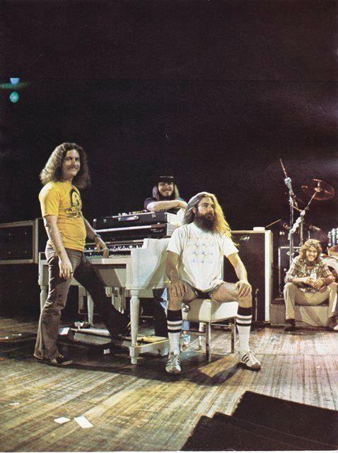 Billy Powell, Ronnie Van Zant, Artimus Pyle and Steve Gaines. #lynyrdSkynyrd #southernrock #classicrock   Skynyrd.com