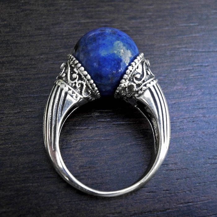 Excited to share the latest addition to my #etsy shop: Lapis Lazuli ring,silver bead ring,Unique ring,Vintage ring,sphere ring,Greek ring,Magic ring,lapis silver ring,antique ring,lapis bead ring http://etsy.me/2iwTSTd #jewelry #ring #silver #no #yes #women #blue #lapislazuli