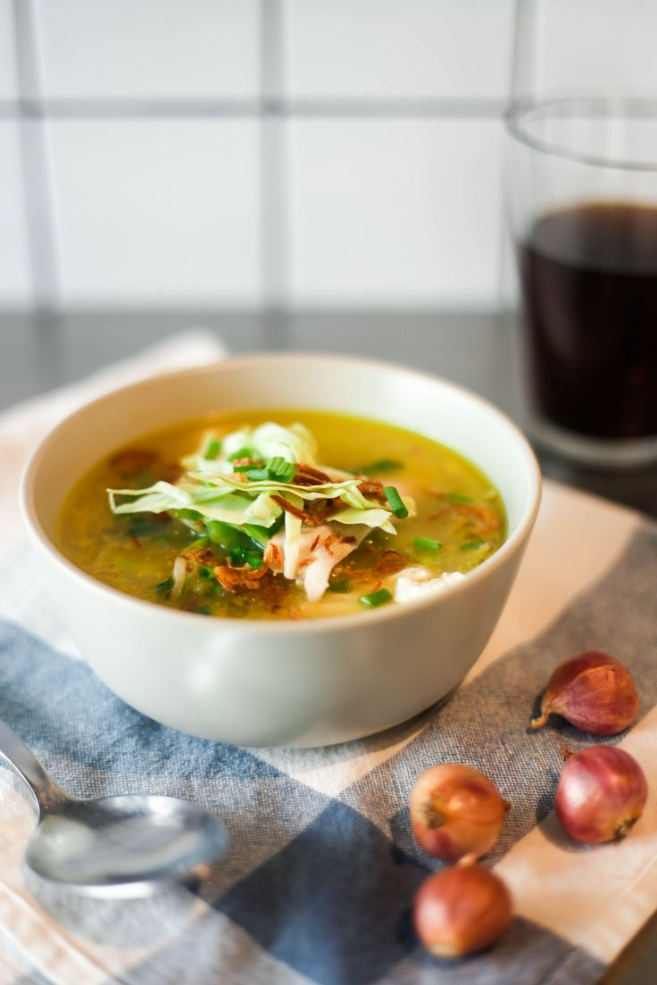 This Indonesian chicken soup recipe (soto ayam) is amazing for an