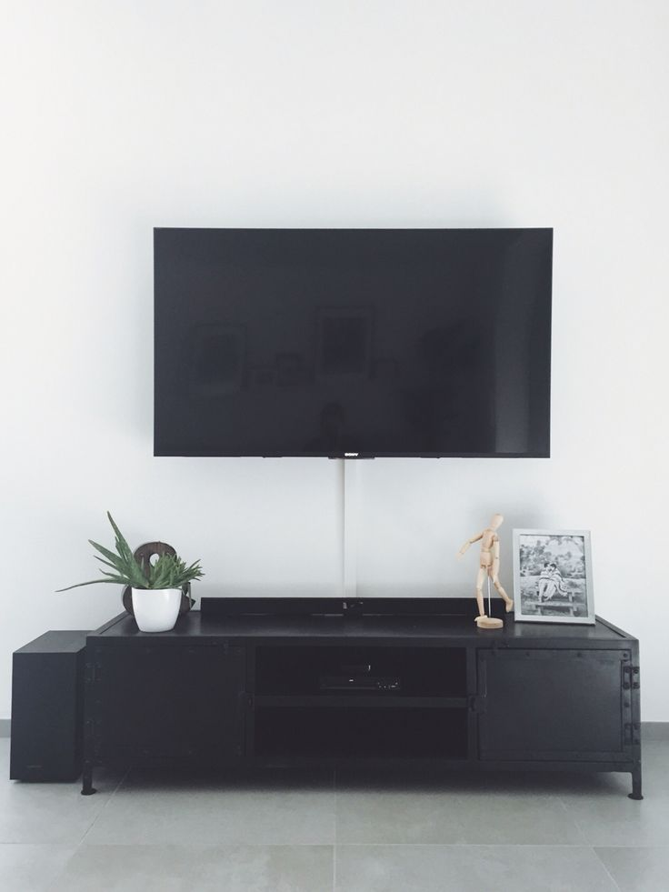 Clean lines for a TV console area