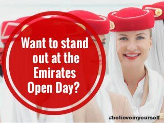 Get a job as Emirates cabin crew