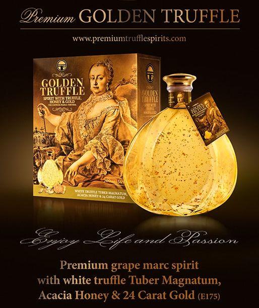 Unique and Premium Golden Truffle Spirit.