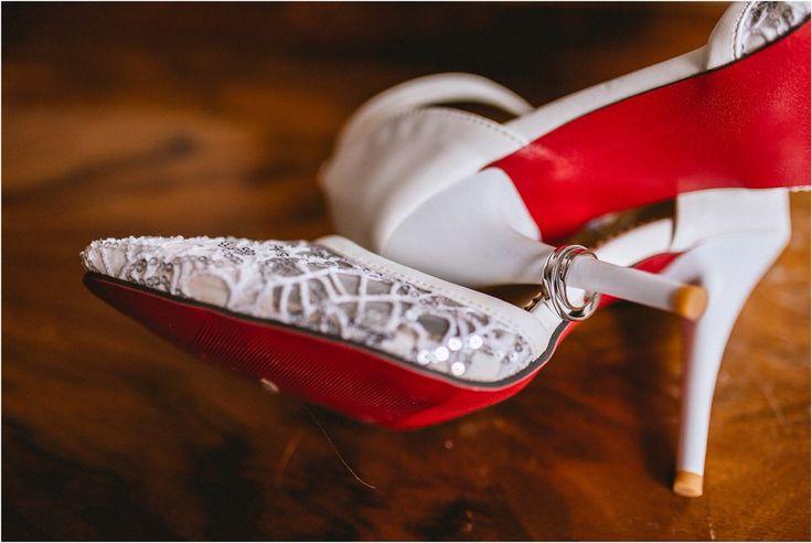 Louboutin pumps wedding stiletto diamond gold wedding bands rings #ido #gettingmarried  #wedding #bride #grom #enlopement #engaged #weddingplanner   Nika and Grega destination wedding photographers