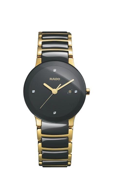 Catálogo de relojes Rado de cerámica: Reloj Rado Centrix en cerámica y acero dorado, para señora (111 0930 3 071)