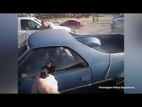 Captivating police chase ends on the University of Arkansas Fayetteville...